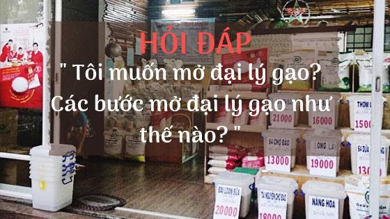 thủ tục mở cửa hàng bán gạo